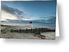 Beautiful Beach Coastal Low Tide Landscape Image At Sunrise With Greeting Card