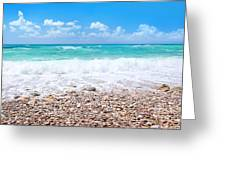 Beautiful Beach Panoramic Landscape Greeting Card