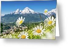 Beautiful Blooming Flower Panorama Greeting Card