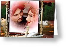 Beautiful Bridal Couple In Love Greeting Card