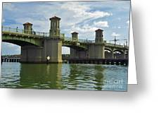 Beautiful Bridge Of Lions Greeting Card