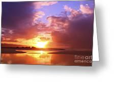 Beautiful Bright Sunset Greeting Card
