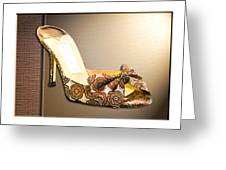 Beautiful Brocade Slippers For A Ball Greeting Card