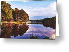 Beautiful Bunn Lake - Zebulon, North Carolina Greeting Card