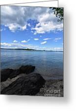 Beautiful Calm Ocean Water's In Casco Bay Maine Greeting Card