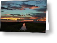 Beautiful Canal Sunset In Florida Greeting Card