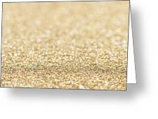 Beautiful Champagne Gold Glitter Sparkles Greeting Card