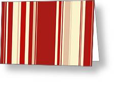 Modern Christmas Stripe Pattern Series Red Currant, Cream, Blush Greeting Card