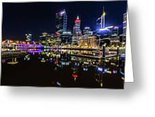 Beautiful Cityscape At Perth's Elizabeth Quay  Greeting Card