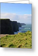 Beautiful Cliff's Of Moher In Liscannor Ireland Greeting Card