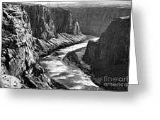 Beautiful Colorado River Page Arizona Blk Wht  Greeting Card