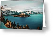 Beautiful Crater Lake Greeting Card