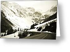 Beautiful Curving Drive Through The Mountains Greeting Card