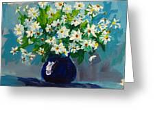 Beautiful Daisies Greeting Card by Patricia Awapara