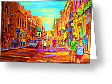 Beautiful Day  In The City Greeting Card
