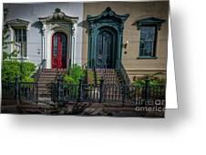 Beautiful Doors On Bull Street Greeting Card