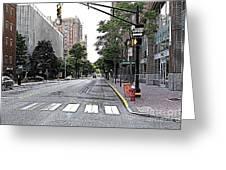 Beautiful Downtown Hoboken  Greeting Card