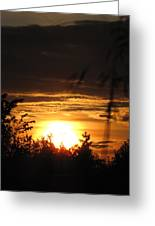 Beautiful End Of Day Greeting Card