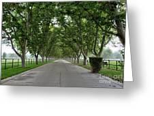 Entrance To River Edge Farm Greeting Card
