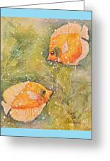 Beautiful Exotic Butterfly Fish Greeting Card