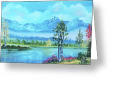 Beautiful Fall Day At The Lake Greeting Card