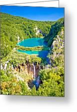 Beautiful Falling Lakes Of Plitvice National Park Greeting Card