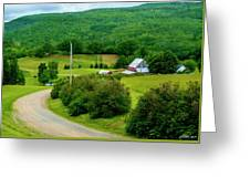 Beautiful Farm In Windsor Forks Greeting Card