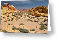 Beautiful Hiking In The Valley Of Fire Greeting Card