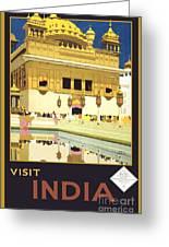 Beautiful India Poster Greeting Card
