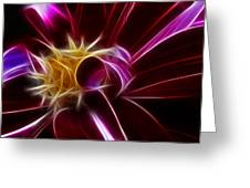 Beautiful Insight Of A Dahlia Greeting Card