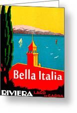 Beautiful Italy, Lake Garda, Riviera Greeting Card
