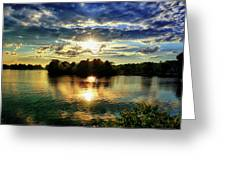 Beautiful Light Of The Golden Hour Greeting Card