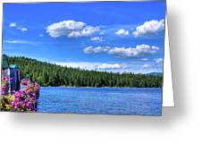 Beautiful Luby Bay On Priest Lake Greeting Card