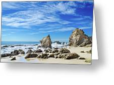 Beautiful Malibu Rocks Greeting Card