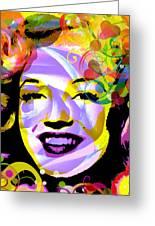 Beautiful Marilyn Monroe Greeting Card
