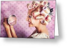 Beautiful Model With Fresh Makeup And Hairstyle Greeting Card by Jorgo Photography - Wall Art Gallery