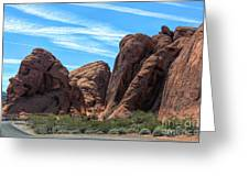 Beautiful Nature Landscape Valley Of Fire  Greeting Card