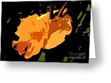 Beautiful Orange Work Number 19 Greeting Card