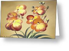Beautiful Orchid Flowers Greeting Card