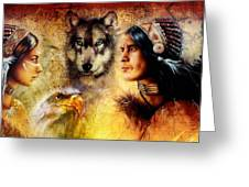 Beautiful Painting Of An Young Indian Man And Woman  Accompanied Greeting Card