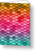 Beautiful Pastel Diagonal Rainbow Spectrum II Mermaid Fish Scales Greeting Card