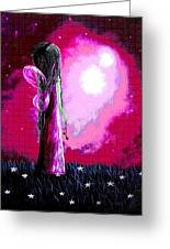 Beautiful Pink Angel Fairy By Shawna Erback Greeting Card