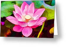 Beautiful Pink Lilies Greeting Card