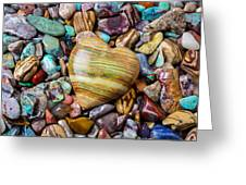 Beautiful Polished Colorful Stones Greeting Card