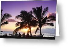 Beautiful Purple Sunset Greeting Card