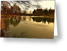 Beautiful Reflection In The Evening Hours Greeting Card
