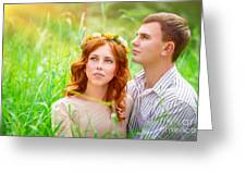 Beautiful Romantic Couple Greeting Card