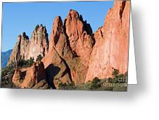 Beautiful Sandstone Spires In Garden Of The Gods Park Greeting Card