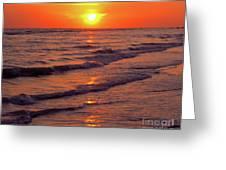 Beautiful Sanibel Sunset Greeting Card