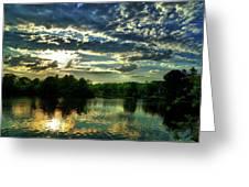 Beautiful Scene Before Sunset Greeting Card